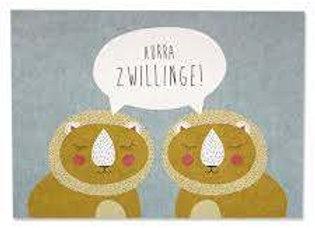 ♡ Postkarte Hurra Zwillinge von Ava&Yves