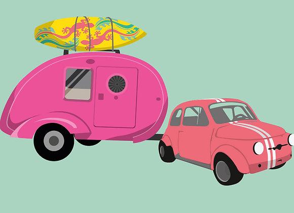 ♡ Postkarte Caravan