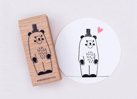 ♡ Stempel Bär mit Hut von Perlenfischer