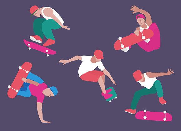 ♡ Postkarte Skater