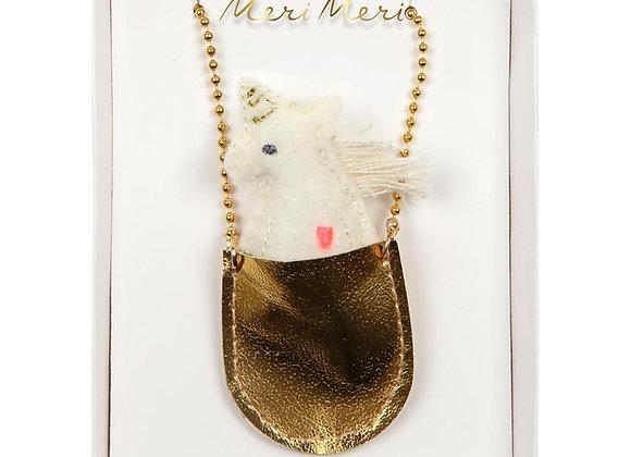 Halskette Einhorn in Tasche von Meri Meri