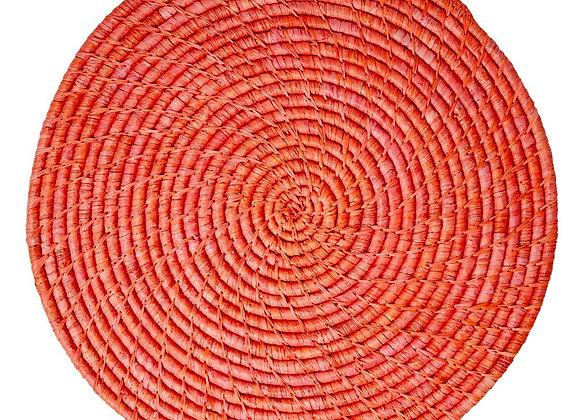 RICE Tischset Raffia red