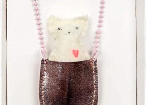 Halskette Kätzchen in Tasche von Meri Meri