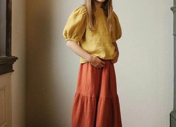 Mio maxi skirt rusty red von Daily Brat