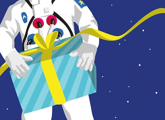 ♡ Postkarte Astronaut