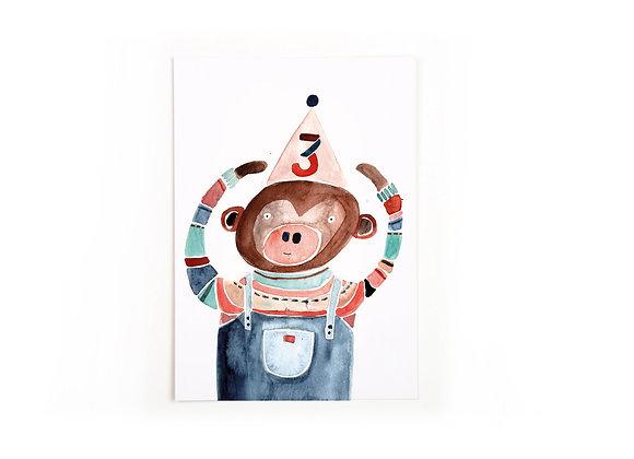 ♡ Postkarte Drei von Gretas Schwester