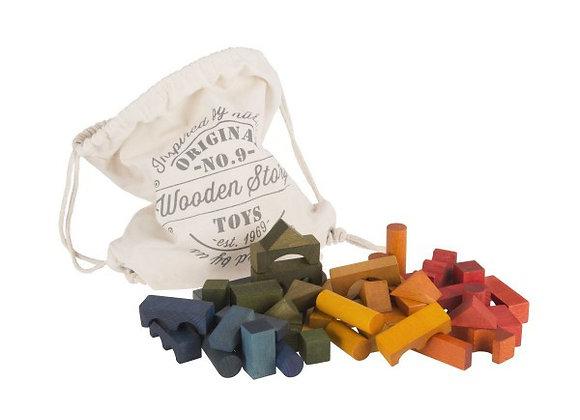 ♡ Bauklötze 100 Stück im Beutel von Wooden Story
