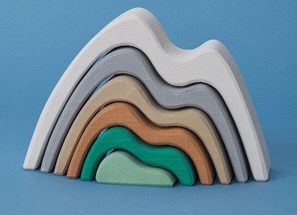 ♡ Bergprofil small arch stacker pastel von Raduga Grez