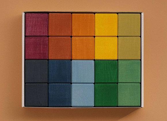 ♡ Earth Colors Cube Set, Holzwürfel von Raduga Grez