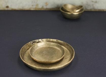 Nkuku Jahi Gold Platte groß