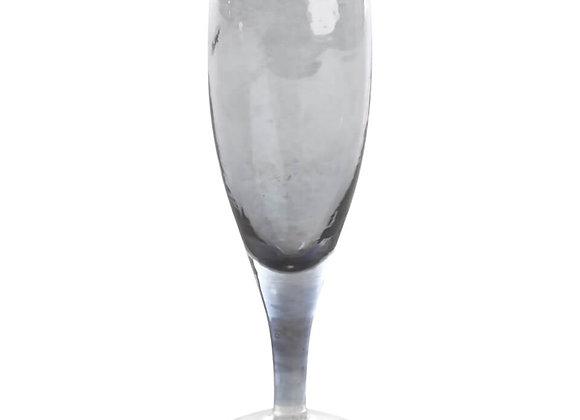 Nkuku Champagnerglas silber/ blau