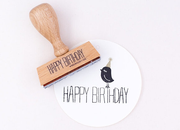 ♡ Stempel Happy Birthday von Perlenfischer