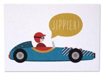 ♡ Postkarte Rennfahrer von Ava&Yves