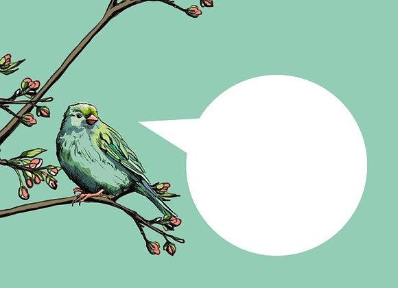 ♡ Briefumschlag C6 Vogel