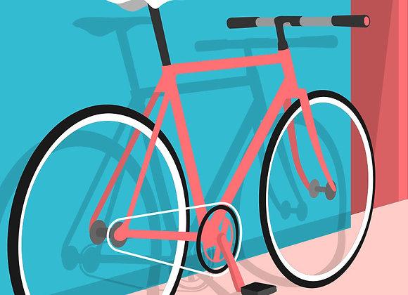 ♡ Karte A5 Fahrrad