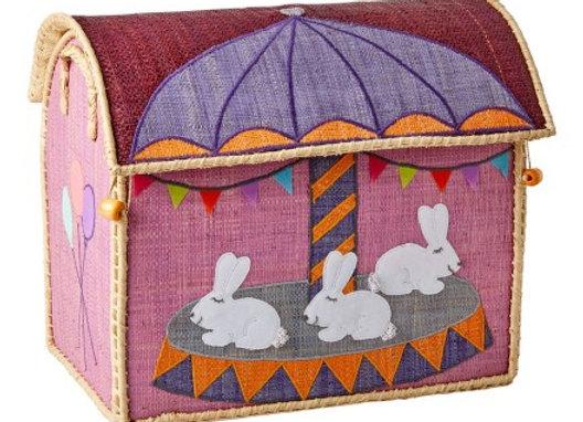 ♡ Spielzeugkorb klein Karussell Hase von Rice