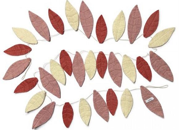 Filzgirlande Blätter von Gamcha