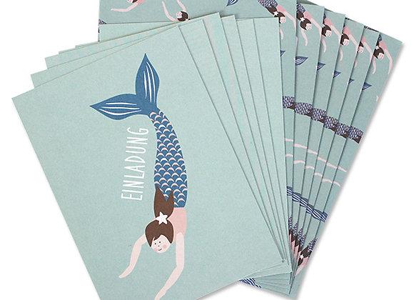 ♡ Einladungsset Meerjungfrau von Ava&Yves