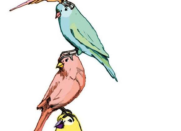 ♡ Postkarte Vögel