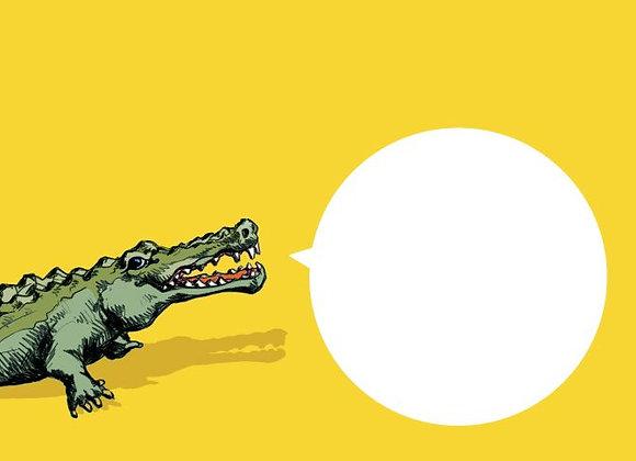 ♡ Briefumschlag C6 Krokodil
