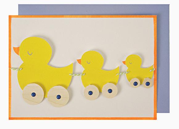 Meri Meri Grußkarte Nachwuchs mit Entengirlande