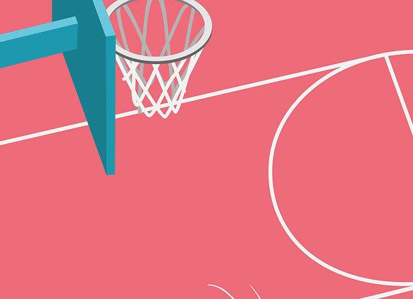 ♡ Karte A5 Basketball