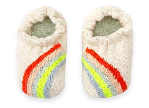 ♡ Strick-Babyschuhe Regenbogen von Meri Meri