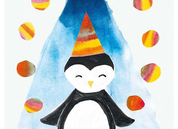 ♡ Postkarte Winter Pinguin