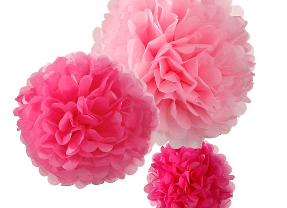 Talking Tables Pom Pom Set in rosa, fuchsia und pink