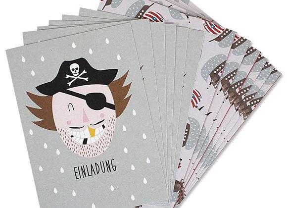 ♡ Einladungsset Pirat von Ava&Yves