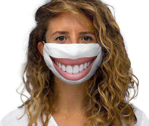 SMILE! Snug-Fit Polyester Face Smile Mask