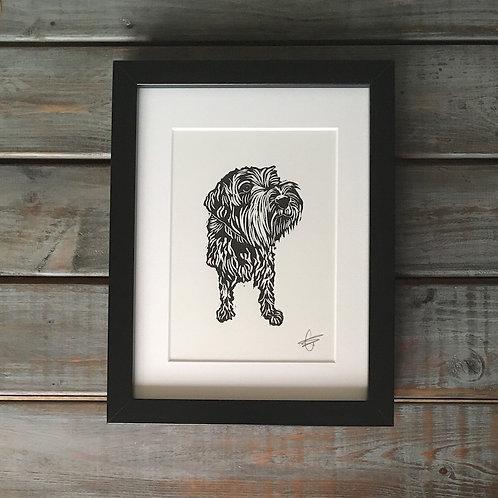'Oscar' Lino Print