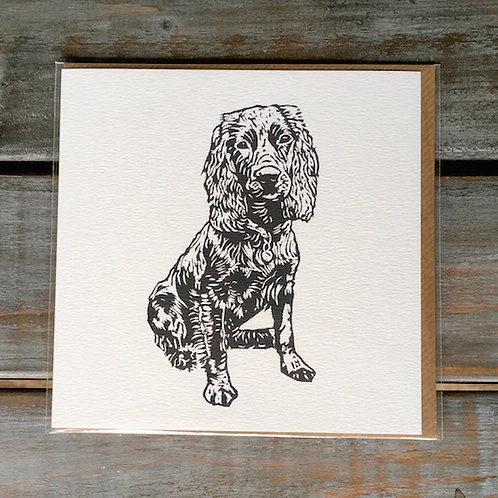 'Percy the Working Cocker Spaniel Card'