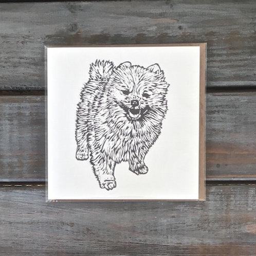 Wally the Pomeranian Card