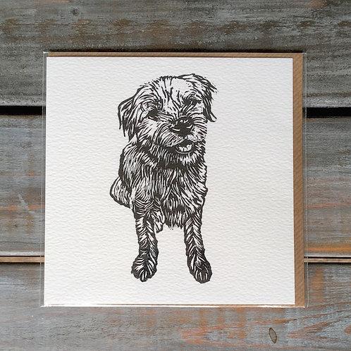 'Boson the Border Terrier' Card