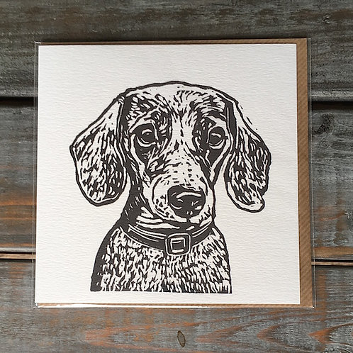 'Duke the Dachshund' Card
