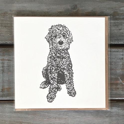 Daphne the Golden Doodle Card