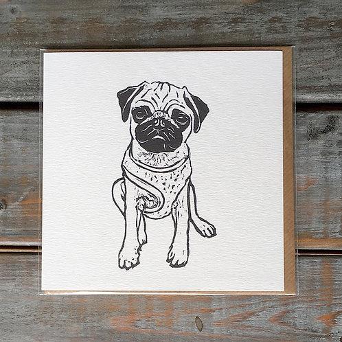 'Edgar the Pug' Card