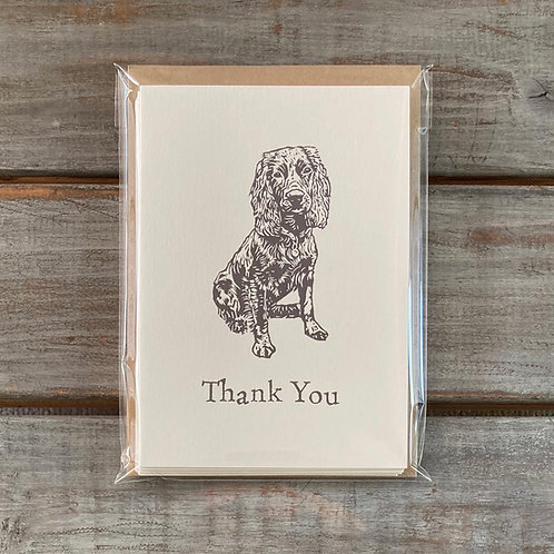 'Percy the Working Cocker Spaniel' Thank You Card Set