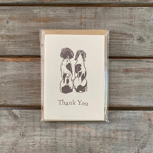'Spaniels' Thank You Card Set