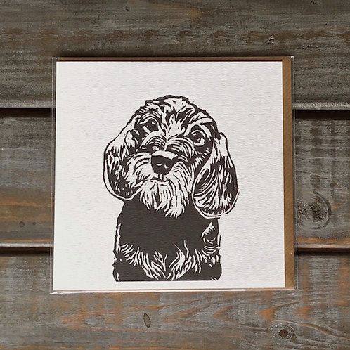 'Digby the Wire Haired Dachshund' Card