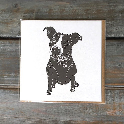 'Lola the Staffie' Card