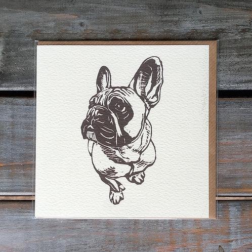 'Hugo the French Bulldog' Card