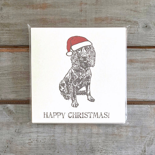 'Percy the Working Cocker Spaniel' Christmas Card Set