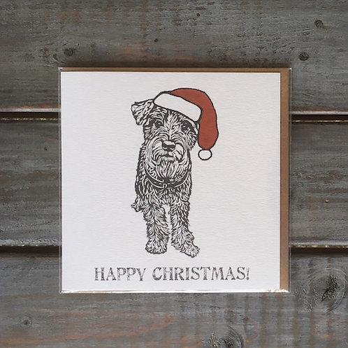 Kevin the Schnauzer Christmas Card