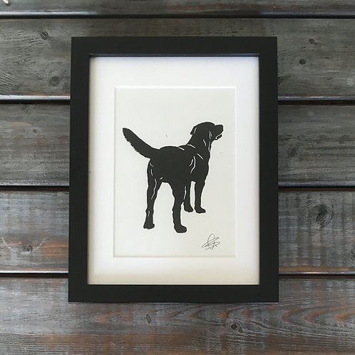 'Ben the Labrador' Lino Print