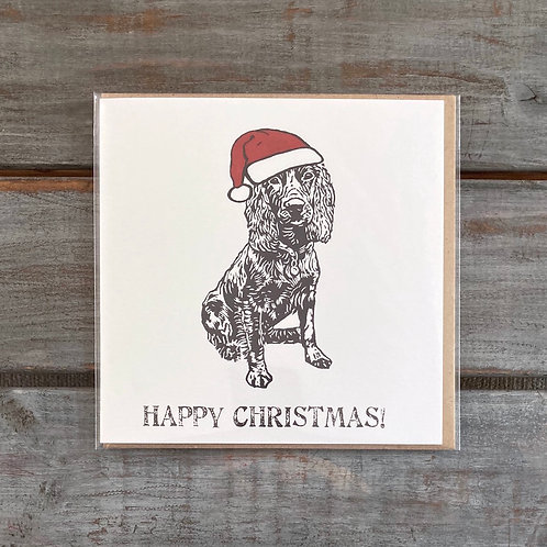 'Percy the Working Cocker Spaniel ChristmasCard'