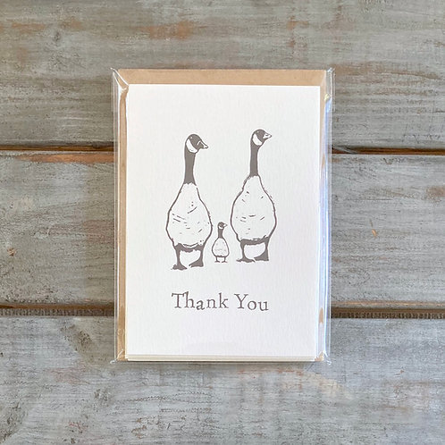 'Family of Geese' Thank You Card Set