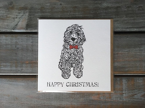 Coco the Cockapoo Christmas Card