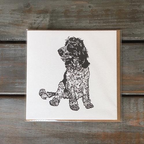 'Rigby the Cocker Spaniel' Card